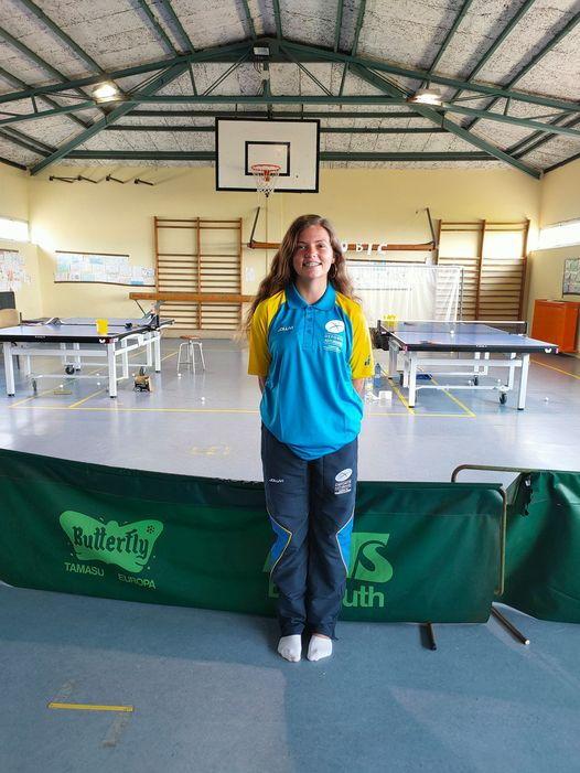 La jugadora del Luarca Tenis de Mesa Daniela Rodríguez al Campeonato de España Escolar