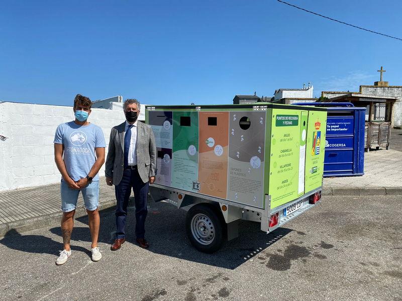 """Rubén Fernández (concejal Medio Ambiente Navia): """"uno de mis retos es facilitar a los vecinos todos los medios para que puedan reciclar"""""""