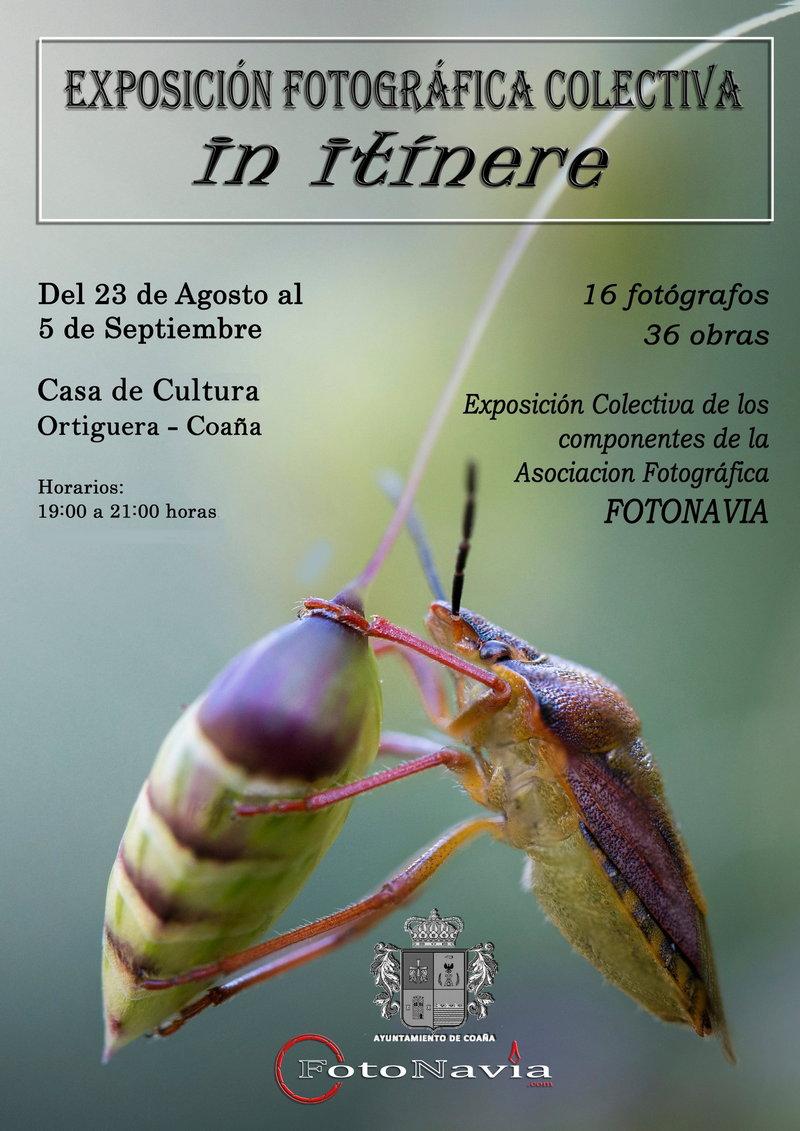 """""""In Itinere"""", la exposición de fotografía de la asociación FOTONAVIA llega a Ortiguera"""
