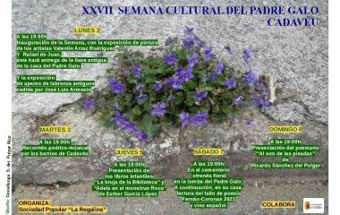 XXVII Semana Cultural del Padre Galo en Cadavedo (Valdés) del 2 al 8 de agosto