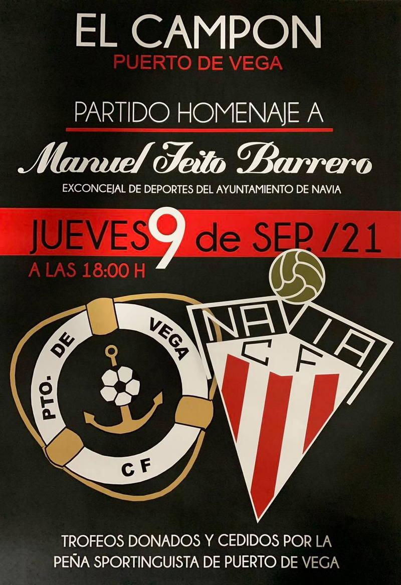 Partido Homenaje a Manuel Feito (Manolo Panadero), el próximo jueves en El Campón (Puerto Vega)