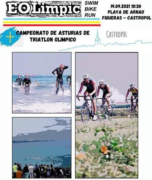 158 inscritos para el Campeonato de Asturias de Triatlón Olímpico que se disputa el domingo en Castropol