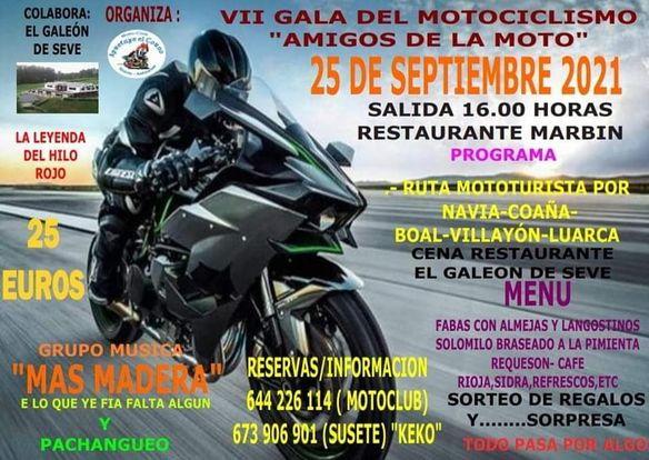 VII Gala del Motociclismo del Moto Club Apretaye el Corno de Navia