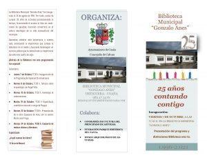La Biblioteca Gonzalo Anes (Ortiguera, Coaña) conmemora su 25º Aniversario