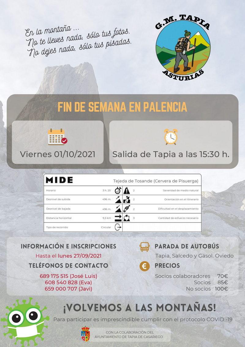 Salida a la Montaña Palentina del Grupo Deportivo Marqués de Casariego de Tapia