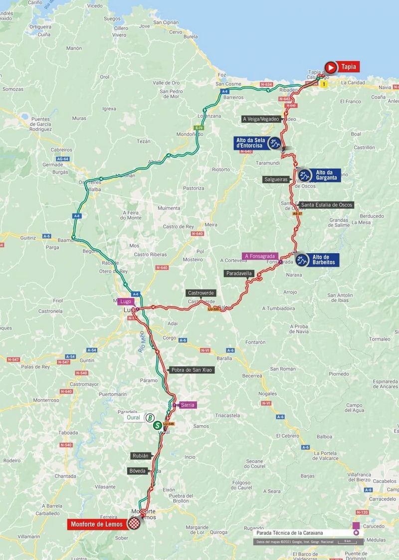 Tapia acoge este viernes la Salida de la 19ª Etapa de la Vuelta Ciclista a España