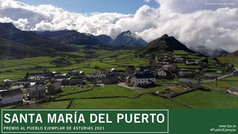 Santa María del Puerto (Somiedo), Pueblo Ejemplar de Asturias 2021