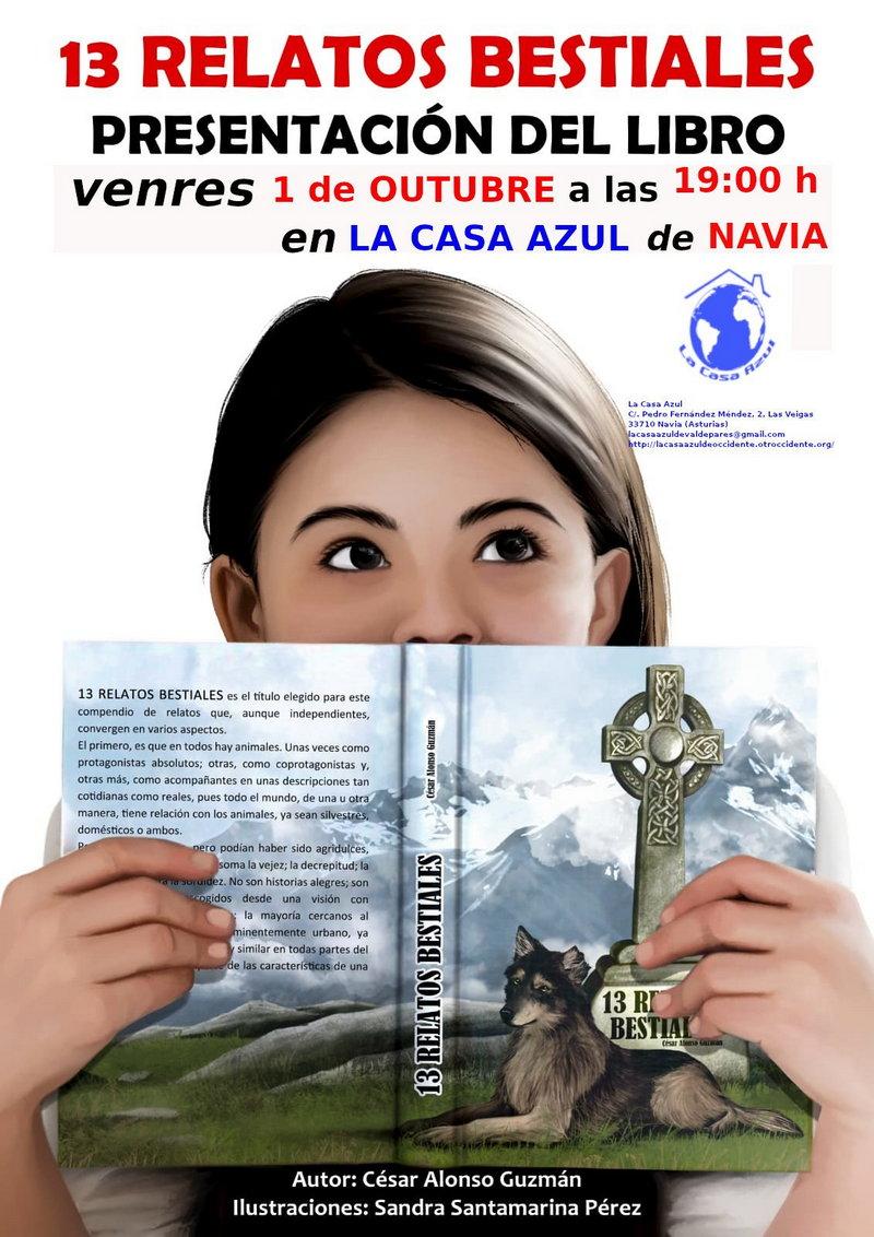 """Presentación del libro """"13 Relatos Bestiales"""" en la Casa Azul de Navia"""