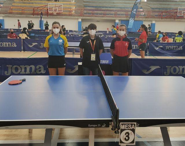 Buen papel de la naviega Daniela García, con la Selección de Asturias, en el Nacional Escolar de Tenis de Mesa