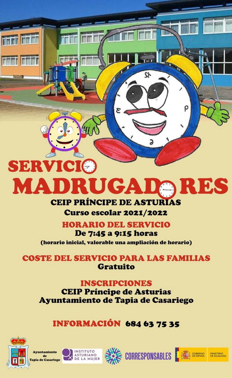 El ayuntamiento de Tapia pone en marcha el servicio de madrugadores en el colegio, gratuito para las familias